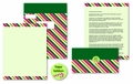 Candy Cane Stripes Self Mailers - 50 Mailers / Seals