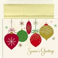 Christmas Ornaments Boxed Holiday Cards - 16 Cards And Envelopes