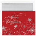Christmas Snowflakes Holiday Cards - 16 Greeting Card Sets