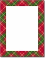 Country Plaid Holiday Letterhead - 80 Sheets