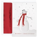 Cozy Snowman Holiday Cards - 16 Greeting Card Sets