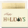 Gold Foil Holidays Boxed Holiday Cards - 16 Cards / Envelopes