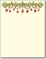 Grandma's Ornaments Holiday Letterhead - 80 Sheets