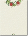 Happy Holiday Wreath Letterhead - 80 Sheets