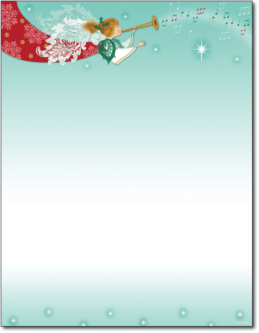 Herald Angel Christmas Paper - 80 Sheets - Holiday Paper ...