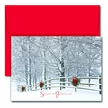 Holiday Fence Boxed Holiday Cards - 18 Cards & Envelopes