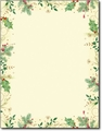 Holly Branches Stationery- 80 Sheets