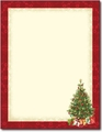 Lacy Tree Holiday Letterhead - 80 Sheets