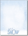 Let It Snow Holiday Letterhead