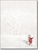 Letterhead, Snowman In Red Scarf Letterhead - 80 Sheets