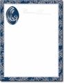 Madonna & Child Ornament Foil Holiday Letterhead