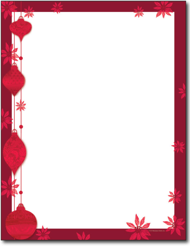 Christmas Stationery Paper | New Calendar Template Site