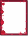 Painted Poinsettia Holiday Letterhead - 80 Sheets