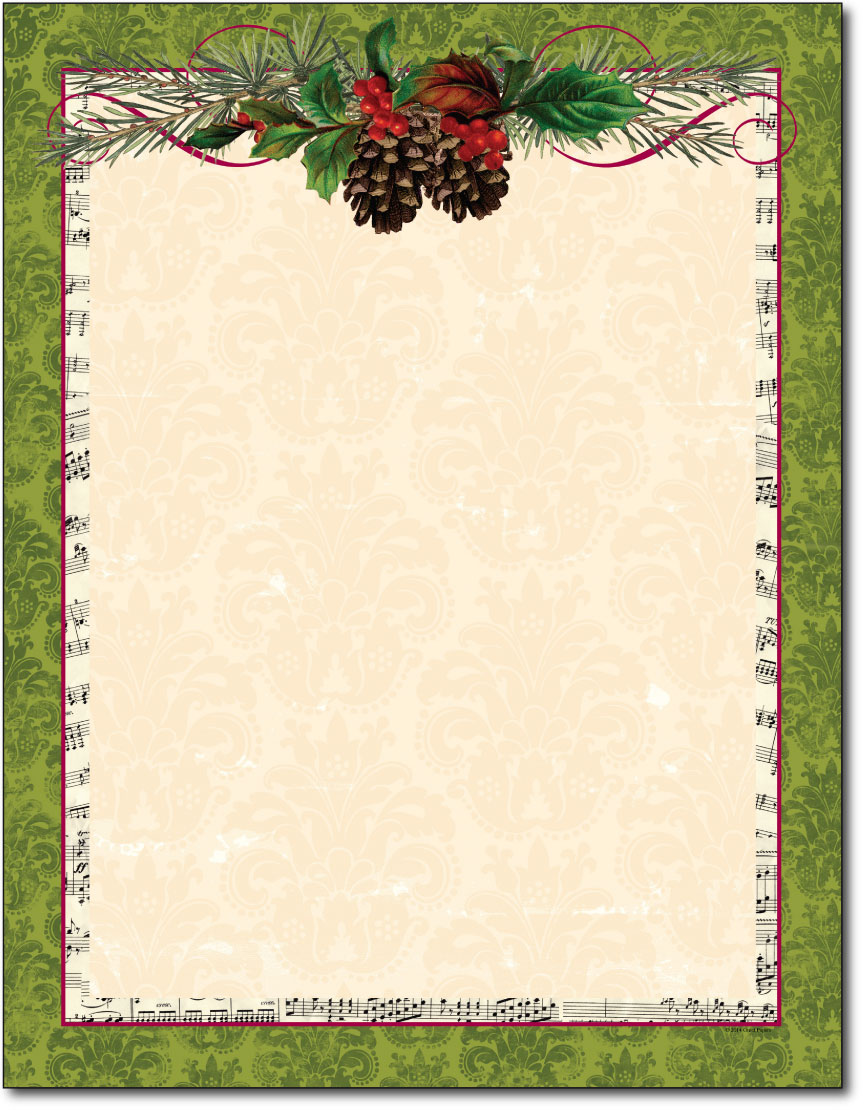Pinecone Garland Holiday Paper - 80 Sheets - Holiday Paper & Christmas ...