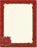 Poinsettia Damask Holiday Letterhead