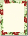 Poinsettia Magnolia Stationery - 80 Sheets