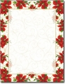 Poinsettia Swirl Holiday Letterhead - 80 Sheets