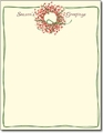 Season's Greetings Wreath Holiday Letterhead