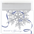 Silver Snowflake Boxed Holiday Cards - 16 Greeting Card Sets
