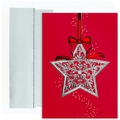 Star Ornament Boxed Holiday Cards - 16 Cards And Envelopes