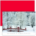 Winter Bridge Boxed Holiday Cards - 18 Cards And Envelopes
