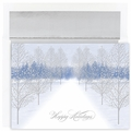 Winter Path Boxed Holiday Cards - 16 Cards And Envelopes