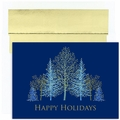 Winter Trees Boxed Holiday Cards - 16 Cards And Envelopes