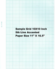 "470780 K&E 10 x 10� Grid Drawing Paper 5th line accented 10th Heavy, Green Ink, 11"" x 16 1/2"", 10"" x 15"" grid size Pkg 100"