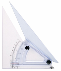 Trig-scale Adjustable Triangles Rise, Slope, & Deg. Graduations