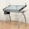 Craft Table with Glass Top -  Futura Hobby and Craft Table Studio Design (Oversized Add 40.00 Shipping)