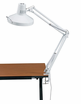 Drafting Lamp Combination Swing-arm Alvin CL1755 White with T5 fluorescent tube & florescent incandescent bulb
