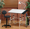 Drafting Table and Chair Alvin Onyx  Creative Center White (Oversized $50.00 for Shipping)