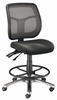 Ergonomic Drafting Chair Mesh Argentum Black by Alvin