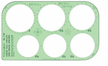 Full Circles and Equal Spacer Template 87T