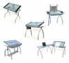Glass Top Desks by Studio Designs