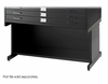 Black High Base Safco Flat File  37x26