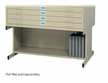 Sand High Base Safco Flat File 50x38
