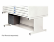 White High Base Safco Flat File 50x38