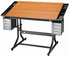 Hobby & Craft Table CraftMaster II Cherry Top 28 X 40 Black Base by Alvin (Oversized add 15 for shipping)