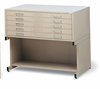 Mayline Flat Files 5 Drawer Steel Inside Drawer Dimension � 50 w X 38 3/4� d X 2� h