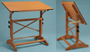 Pavilion Wood Drafting Table 31X42 With Cherry Melamine Top (Oversized Add 30.00 for Shipping)