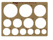 "Picket Circles Template for Circles 1 1/4"" to 3 1/2"""