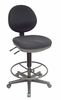 Alvin Black Prestige Drafting Chair With Black Foot Ring