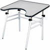 REFLEX WHEEL CHAIR ACCESSABLE FOLDAWAY DRAWING TABLE WHITE (Oversized Add 40.00 for shipping)