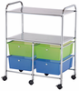 "Rolling Storage Carts 4 Drawer Two Shelve 15 �""d x 23 5/8""w x 32""h by Alvin"