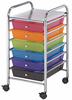 "Rolling Storage Carts 6 Drawer 15 �""d x 11 1/4""w x 26""h by Alvin"