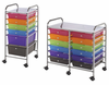 Rolling Mobile Storage Carts With Drawers & Shelves by Alvin