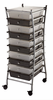 Rolling Storage Carts Alvin X-framed 10 Drawer Mobile Storage Carts