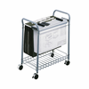 Safco Rolling Project File A Rolling File Cart for Hanging Files and Hanging Clamps