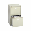 Safco Two Drawer Vertical File Cabinet for Hanging Files and Hanging Clamps (Ships Truck $100.00 Flat Fee)